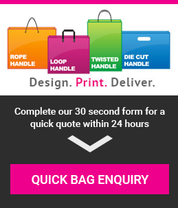 Twisted Handle Paper Carrier Bags, Custom Printed Twisted
