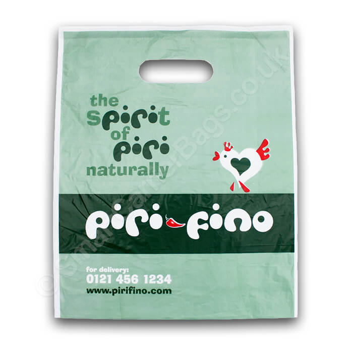 Die cut handle bags by Smart Carrier Bags
